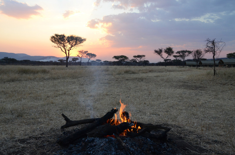 Campfire scene - OAT Safari Tented Camp - Serengeti