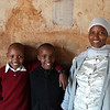 Students with assistant principal at Rhotia Primary School -Karatu, Ngorongoro Highlands