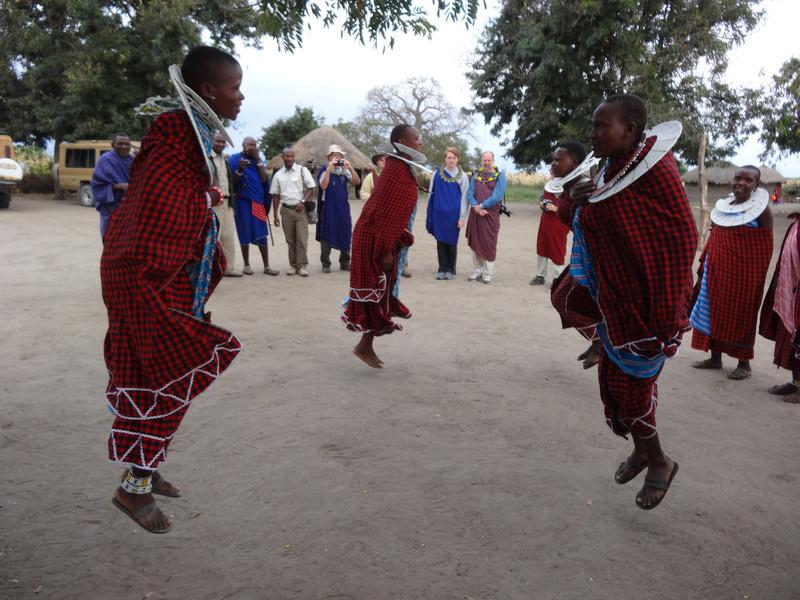 Maasai women dancing - Maasai village - near Tarangire