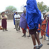 Maasai men dancing - Maasai village - near Tarangire