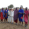 Ken and Bev with Maasai villagers - near Tarangire