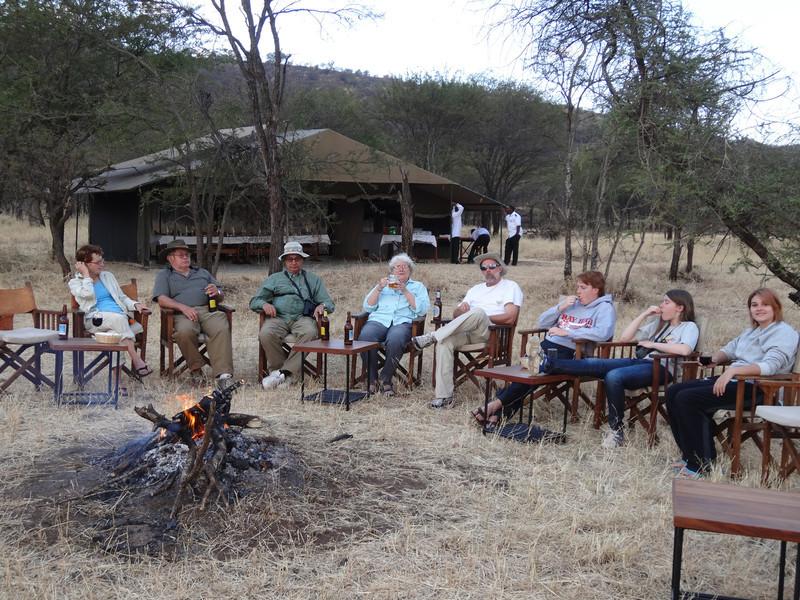 Campfire at OAT Serengeti Camp - Serengeti