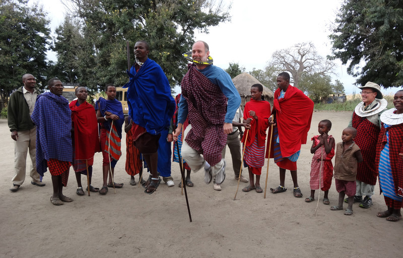 Dancing - Maasai village - near Tarangire