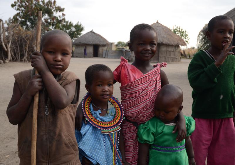 Maasai children in village - near Tarangire