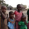 Maasai children in village - near Tarangire