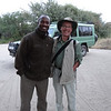 Ken and Trip Leader Joshua Lovuto - Lake Burunge Tented Camp