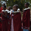 Maasai women welcoming guests - Maasai village - near Tarangire