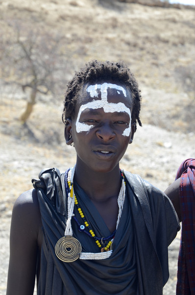 Young Maasai boy, recently circumcised - near Oldupai Gorge