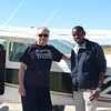 Me & my pilot Tato after arriving at the airstrip for my first camp (Sandibe)