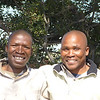 Kwara Camp tracker Musta and guide TJ