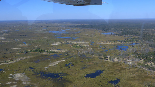 Maun airport to Sandibe:  view from plane