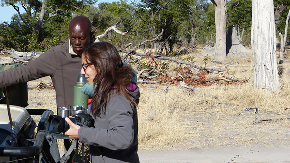 Savuti Lodge guide TK and Chinsia from Italy