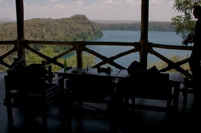Cold drinks after hot walking safari at Lake Chala Safari Camp