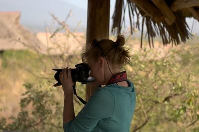 Taking pictures at Lake Chala Safari Camp