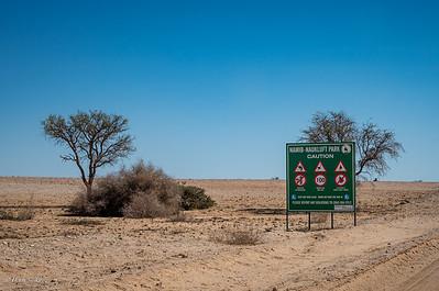 Entering Namib-Naukluft Park