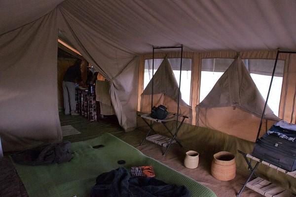 Mobile tent at Serengeti Savannah Camps