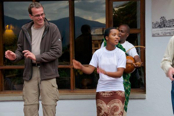 Tribal dance at Ngorongoro Farm House