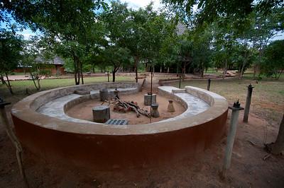 Angalia Tented Camp, Fireplace