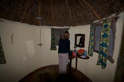 Selous River Camp, our bathroom