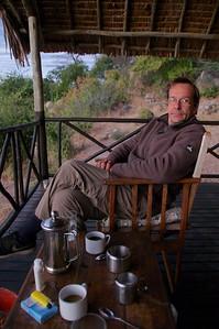 Ruaha River Lodge, fresh coffee in the morning