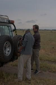 Flat tire at Tarangire NP