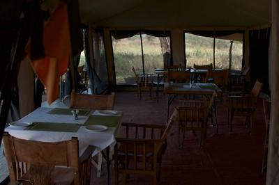 Diner tent at Kati Kati