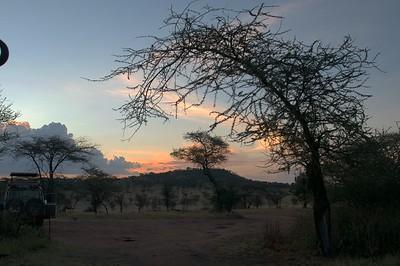 Beautiful view of the sunset from Kati Kati