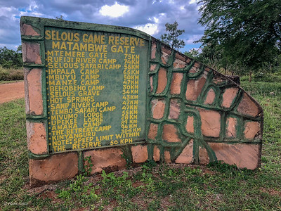 Entering Selous Game Reserve from Matambwe Gate