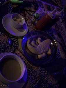 Pumpkin soup with crocodile bread! Perfect!