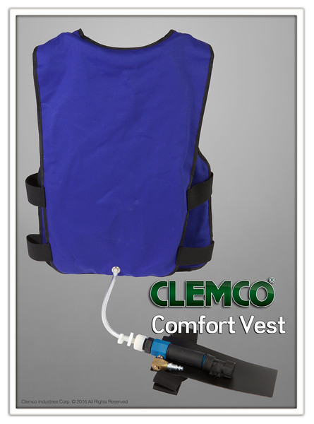 Comfort Vest with a Clem-Cool Air Conditioner