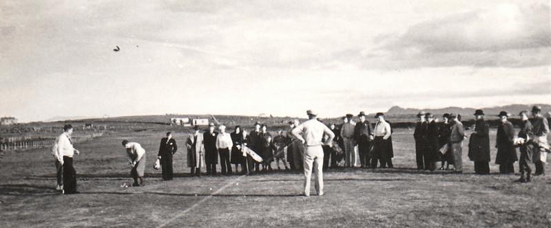 Sýning á golfvellinum í Reykjavík