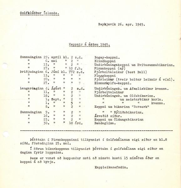 Mótalisti 1945