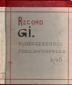 Fundargerðir forgjafarnefndar 1945-6