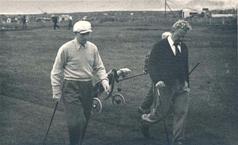 Þorvaldur Ásgeirsson og Jakob V. Hafstein.