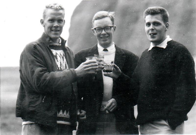 Frá Vestmannaeyjum, er landsmótið var haldið þar 1962. Frá vinstri: Gísli Bragi Hjartarson GA, Kristján Torfason GV, sem sigraði í 1. flokki og Gunnlaugur Axelsson GV.