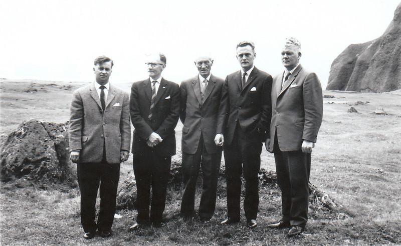 Fv. Jóhann Eyjólfsson, Halldór Magnússon, Stefán Árnason, Sveinn Snorrason, Lárus Ársælsson.