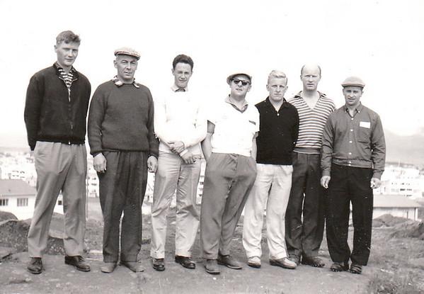 FV. Pétur Björnsson, Ingólfur Isebarn, Halldór Bjarnarson, Sigurjón Hallbjörnsson, Helgi Jakobsson, Ólafur Ágúst Ólafsson, Jóhann Eyjólfsson.