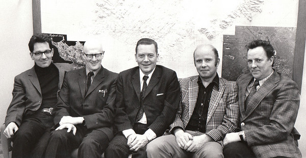 Fv. Kristján Einarsson, Ólafur Tómasson, Páll Ásgeir Tryggvason, Konráð Bjarnason, óþ.