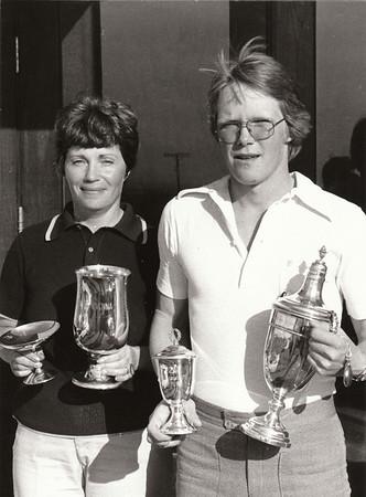Elísabet Möller og Ragnar Ólafsson klúbbmeistarar GR 1976.
