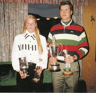 Systkini Herborg og Sigurjón Arnarsbörn urðu klúbbmeistarar GR árið 1993.