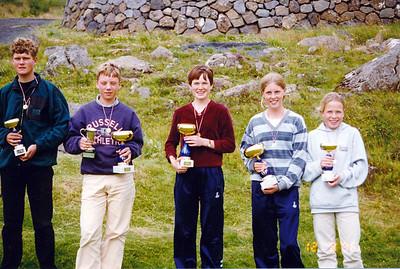 Frá vinstri: Guðmundur Fr. Jónassonar, Ólafur K. Steinarsson, Alda Ægisdóttir, Katla Kristjánsdóttir, Harpa Ægisdóttir.