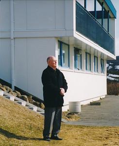 Svan Friðgeirsson (1927-2012). Hann var gerður að heiðursfélaga árið 1998. Myndin tekin fyrir Kylfing.