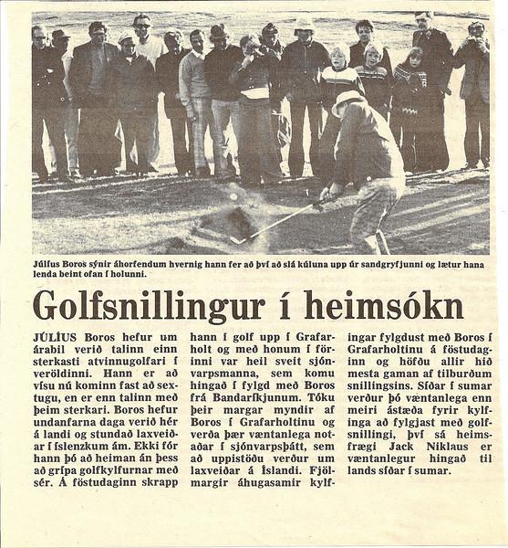 Frétt úr Morgunblaðinu 1976.