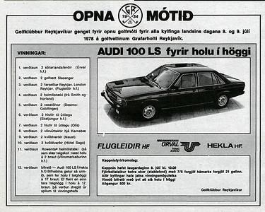 Auslýsing - Opna GR 1978