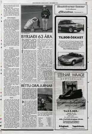 Morgunblaðið 1. september 1991, bls. 35. -  www.timarit.is