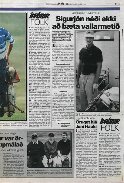 Morgunblaðið 9. júlí 1991, bls. B5 - www.timarit.is