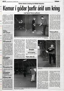 Fjallað var um inniaðstöðuna á Korpúlfsstöðum í DV.