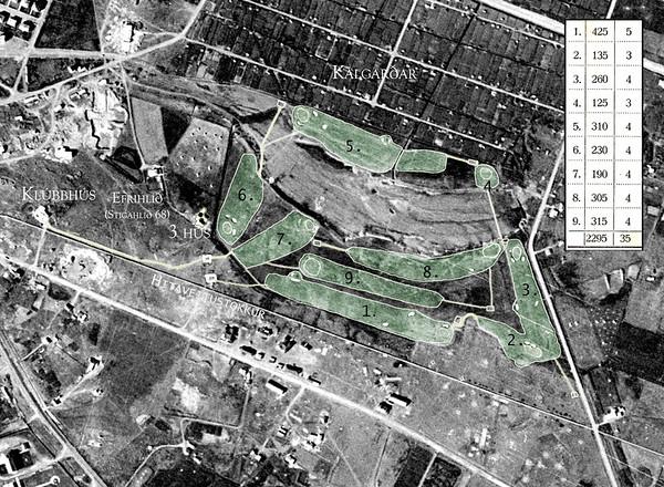 Golfvöllur í Mjóumýri og Kringlumýri 1954