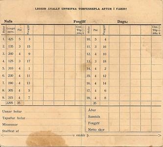 Skorkort (eftir 1940)