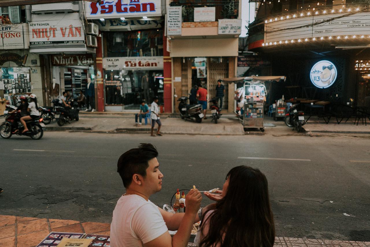 Intimate Saigon Engagement Shooting